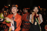 Festive cymbal players
