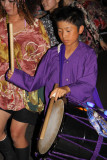 Young boy with taiko