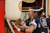 Pounding the taiko