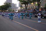 Group of bon dancers out on the boulevard