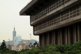 Taipei Main Station and the distant Taipei 101
