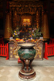 Censer and altar at Qingshan Temple