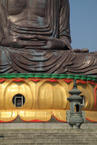 Censer beside the Buddha's cupped hands