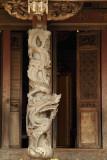 Dragon pillar in Longshan Temple