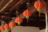 Hanging lanterns in the cloisters