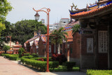Row of restored Qing-dynasty buildings