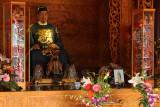 Sculpture of Koxinga in the shrine's main hall