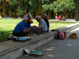 Old men resting in the shade in Parku Rinia