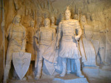 Skanderbeg and his entourage in the museum