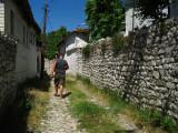 Walking through a residential lane in Kalasa