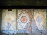 Weathered murals at the Baba Arabati tekke