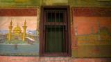 Newly-painted murals, Baba Arabati tekke