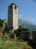 Clock tower and Rumija Mountains