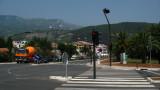 Main street through the resort town