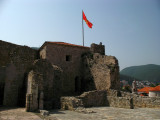 Flag overlooking the citadel courtyard