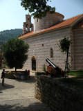 Cannon behind St. Trinity's Church