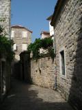 Back lane in Budva's Stari Grad