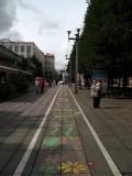 Sidewalk chalk art near the City Garden