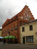 Old brick townhouse on Vilniaus gatvė