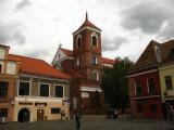 Kaunas Cathedral Basilica from Rotušės aikšte