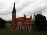 Vytautas Church and towers of St. Francis Church