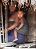 Akha woman and baby Muang Sing