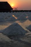 Fields of salt in Thailand