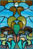 Close up on the stained glass