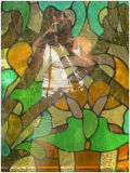 My reflection in stained glass