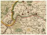 detail oude kaart uit 1640 met Nieuwstadt