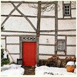 Timber Framing and Red Door