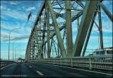 Crossing the Auckland Harbour Bridge