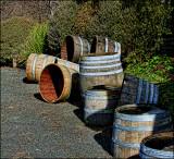 Wine barrels at Matua Valley Wines