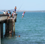 Jumping off the wharf