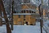 Little Washington Road Buildings in Snow