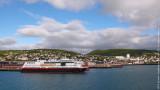 Arriving at Harstad, M/V Nordnorge, Tromso-Harstad