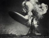 Sam Shere /1904-1982/: Burning of the Hindenburg, 1937