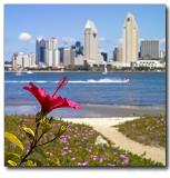 Downtown view across the San Diego harbor /from Coronado Island/
