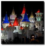 Excalibur hotel at night, Las Vegas