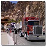 Truck crossing the Hoower Dam