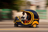 coco taxi in motion