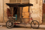 bicycle taxi at rest
