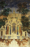 Phnom Penh Royal Palace. Wall paintings in the open air