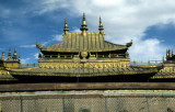 Lhasa, the ornate roof of Jokhang temple