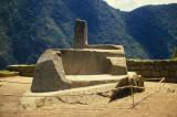 Machu Picch. Inti Huatana (Sun stone), used for arstronomic calculations.