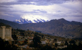 La Paz. View on Illimani