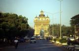 Vientiane. Patuxai Gate of Triumph