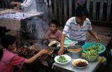 Vientiane. Fast food