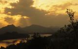 Luang Prabang. Sunset on the Mekong River.