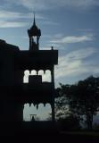 Luang Prabang. A temple silhouet